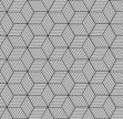 Seamless geometric pattern with cubes