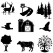 Icon Set,Barn,Livestock,Tre...