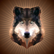 Dog,Origami,Wolf,Abstract,p...