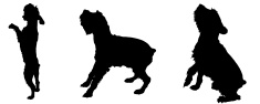 Dog,Back Lit,Vector,Silhoue...