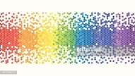 Colourful Rainbow Pixel Background