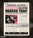 Newspaper Wedding Invitation Design Template
