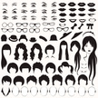 Eyelash,People,Vehicle Part,Black Color,Human Mouth,Icon Set,Beautiful Woman,Cut Out,Human Teeth,Eyebrow,Hat,Facial Mask - Beauty Product,Vector,Human Nose,Human Body Part,Smiling,Icon,Hairstyle,Characters,Front View,Silhouette,Teenage Girls,Orthographic Symbol,Part Of,Human Hair,Women,Baby Girls,Human Lips,Adult,Human Eye,Human Face,Symbol,Anthropomorphic Smiley Face,Illustration,Design,Females,Teenager,Beauty,Avatar,Human Head,Sunglasses,Eye,Baby - Human Age,Shape,Portrait,Fashion,Eyeglasses,Elegance,Fine Art Portrait,Nose
