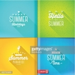 Booklet template - set of summer greeting sign