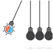 Ideas,Concepts,Light Bulb,L...