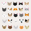 Domestic Cat,Undomesticated Cat,Human Face,Pattern,Characters,Animal Head,Animated Cartoon,Happiness,Cartoon,Cheerful,Fur,Displeased,Pets,Multi Colored,Backgrounds,Vector,Smiley Face,Animal,Spotted,Design,Anger,Cute