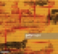 Mosaic,Yellow,Pattern,Backg...