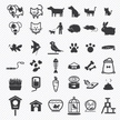 Pet icons set.