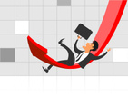 Businessman,Falling,Men,Bag...