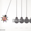 Newton's cradle concept on background