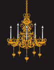 Chandelier,Candle,Silhouett...