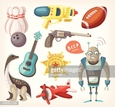 Art,Recreational Pursuit,Child,Sports Ball,Squirt Gun,Icon Set,Handgun,Skittles - Game,Cut Out,Airplane,Lifestyles,Painted Image,Single Object,Gift,Machinery,Fun,Toy,Sport,Design Element,Robot,Art And Craft,Vector,Icon,Childhood,Old-fashioned,Leisure Activity,Gun,Computer Graphic,Extinct,Cheerful,Retro Style,Cute,Water Pump,Symbol,Ukelele,Illustration,Interactivity,Clip Art,Old,Guitar,Baby - Human Age,Dinosaur,Cartoon,Christmas,Joy