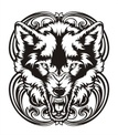 Wolf,Ilustration,Vector,Wil...