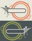 Fern,Orchid,Circle,Retro Re...