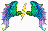 Angel,Colorful Wings,Tattoo...