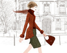 People,Elegance,Built Structure,City,Journey,Bag,Lifestyles,Outdoors,Europe,Drawing - Art Product,Walking,Window,France,Street,Old,Tree,Paris - France,One Person,Headscarf,Beauty,Adult,Young Adult,Art And Craft,Art,Watercolor Painting,Pencil Drawing,Illustration,Painted Image,Females,Women,One Young Woman Only,Only Women,One Woman Only,Vector,Fashion,Travel,Adults Only,Beautiful People