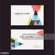 vector business card design template of triangle