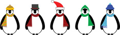 Penguin,Winter,Knit Hat,Car...