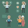 Infographic,Smiling,Pension...