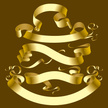 Ribbon,Banner,Gold Colored,...