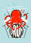 Music,Octopus,Ilustration,C...