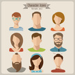 People,Human Body Part,Human Face,Eyeglasses,Beard,Mustache,Human Hair,Long Hair,Old-fashioned,Orthographic Symbol,Computer Icon,Child,Teenager,Adult,Young Adult,Cute,Illustration,Flat,Males,Men,Boys,Females,Women,Teenage Girls,Portrait,Vector,Characters,Fashion,Icon Set,Avatar,Hipster - Person,Social Icons