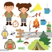 Camping,Forest,Child,Teenag...