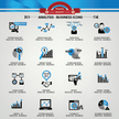Business Analysis concept icons,Blue version,vector