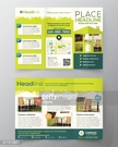 Real Estate Brochure Flyer design vector template in A4 size