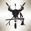 Spear,Silhouette,Feather,Bl...