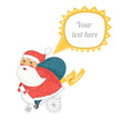 Cards,Santa Claus,Cute,Bicy...