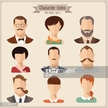People,Elegance,Symbol,Social Issues,Human Body Part,Human Face,Eyeglasses,Beard,Mustache,Human Hair,Long Hair,Old-fashioned,Orthographic Symbol,Computer Icon,Child,Teenager,Adult,Young Adult,Art And Craft,Art,Cute,Illustration,Flat,Males,Men,Boys,Females,Women,Teenage Girls,Portrait,Vector,Characters,Fashion,Icon Set,Set,Avatar,Hipster - Person