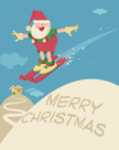 Santa Claus,Skiing,Backgrou...