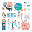 Infographic,Piggy Bank,Cale...