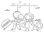 Line Art,Coloring Book,Airp...