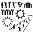 Group Of People,Computer Icon,Symbol,Stick Figure,People,Supporting,Support,Cheerful,Happiness,Human Hand,Men,Picking Up,Charity and Relief Work,Track Event,Running,Friendship,Unity,Silhouette,Holding,Action,Social Issues,Sign,Working,Concepts,Labor Union,Togetherness,Organized Group,Community,Freedom,Law,Forward,Black Color,Care,Equality,Connection,Social Gathering,Vector,Aspirations,One Person,Effort,The Way Forward,Looking At Camera,Independence,Civil Rights,Strength,Organization,Social Services