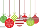 White Background,Holiday - Event,Season,Vector,Backgrounds,Abstract,Decoration,Group Of Objects,Winter,Sphere,Illustration,Christmas Decoration,Red,White Color,No People,Circle,Green Color,Christmas