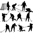 Ice Hockey,Silhouette,Vecto...