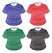 Striped,Shirt,Blue,Red,Vect...