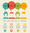people icons with dialog idea speech bubbles infographic