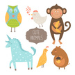 Young Animal,Cards,Monkey,A...