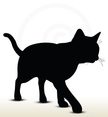 Silhouette,Domestic Cat,Bac...