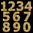 Number,Glitter,Gold Colored...