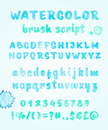 Alphabet,Watercolor Paints,...