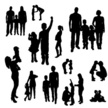 Silhouette,Family,Vector,Ch...