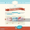 Website template in modern retro design
