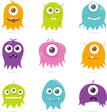 Monster,Cute,Smiling,Vector...