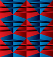 Pyramid Shape,Pattern,Red,S...