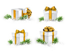 Open,Gift Box,Gold Colored,...