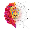 Animal,Lion - Feline,Yellow,Sport,Vector,Backgrounds,Human Body Part,Tattoo,Zoo,Diamond - Gemstone,Computer Graphic,Mammal,Sign,Mascot,Human Face,Symbol,Illustration,Multi Colored,Africa,Nature,Animal Mane,Geometric Shape,Strength,Spotted